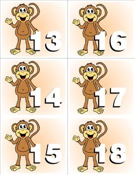 Monkey Kit One  - Themed Learning Center Activity Kit