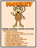 Monkey Kit One  - Themed Learning Center Activity Kit
