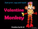 Monkey Lantern Craft ::  Valentine's Day Craft  ::  Valentine's Day Activity