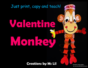 Monkey Lantern Craft ::  Valentine's Day Craft  ::  Valentine's Day Activity