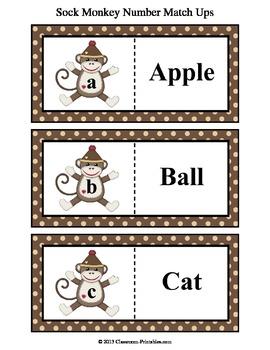 Sock Monkey Letters ABC Match Ups