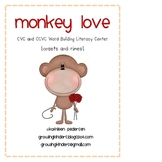 Monkey Love! A Literacy Center for CVC and CCVC Words