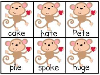 Monkey Love ~ A small group extension activity for Long/Short Vowels