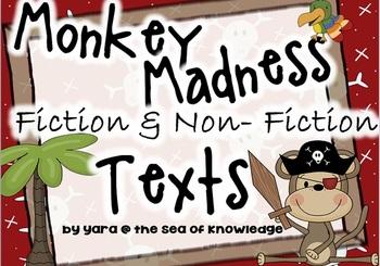 Fiction & Non-fiction Texts {Monkey Madness} Grades 1-2