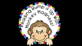 Monkey Madness Reading Bump it Up Wall **ALL CLUSTERS** **