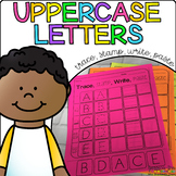 Uppercase Letters - Trace, Stamp, Write, Paste