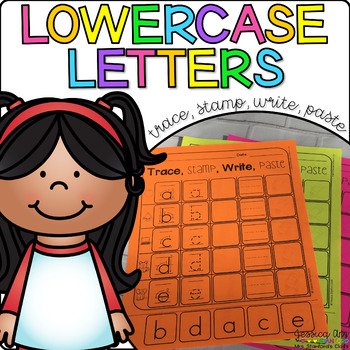 Lowercase Letters - Trace, Stamp, Write, Paste