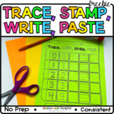 Numbers - Trace, Stamp, Write, Paste
