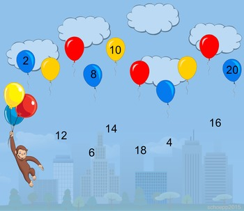Monkey Mania - Counting by 2's