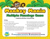 Multiple Meaning Words Game for Speech Therapy (Monkey Themed)