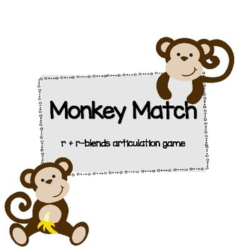 Monkey Match Articulation - prevocalic and vocalic R
