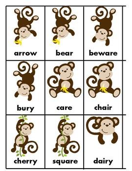 Monkey Match Articulation - prevocalic and vocalic R