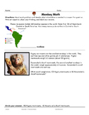 Monkey Math 3rd Grade Word Problems
