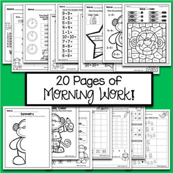 Monkey Math - Addition & Subtraction Morning Work Daily Practice