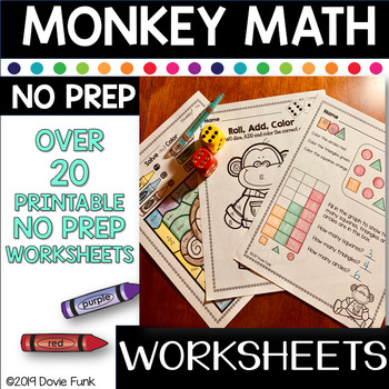 Monkey Math - Addition and Subtraction Morning Work and Da