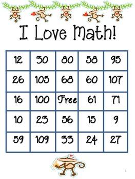 Monkey Math: Bingo Plus!  {{Print & Go!}}  (Common Core)