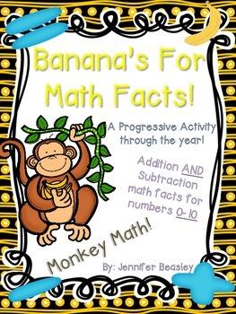 Monkey Math: Math Facts--A Progressive Activity