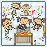 5 Little Monkeys Math - Representing Subtraction in a Variety of Ways