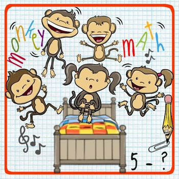 5 Little Monkeys Math - Representing Subtraction in a Vari