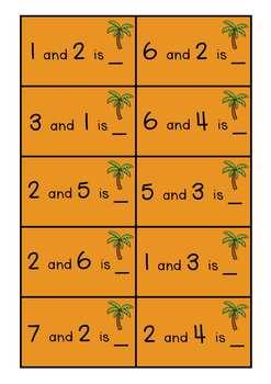 Monkey Maths Addition Tens Frame Mat/Worksheets C/C Aligned