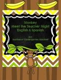 Monkey Meet the Teacher Night Spanish and English