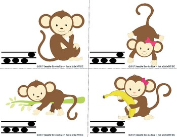 Monkey Melody Races--a game to practice melodic notation {sol mi}