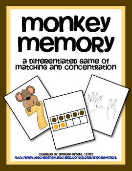 Monkey Memory (Math Concentration Game)