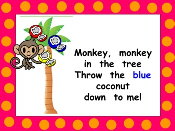 Monkey, Monkey in the Tree Shared Reading PowerPoint