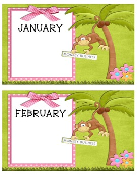 Monkey Monthly Posters