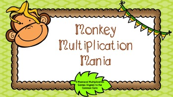 Multiplication Review Games Monkey Mania - 5 Complete Games