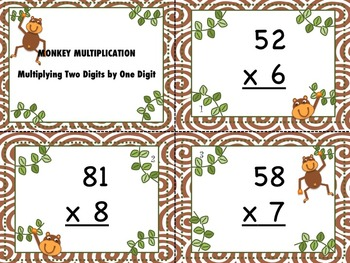 Monkey Multiplication - Multiplying Two Digits by One Digit