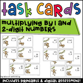 Multiplication Task Cards (Multiplying by 1 and 2 Digit Numbers)