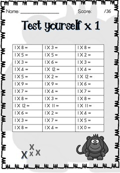 Monkey Multiplication and Division Booklet
