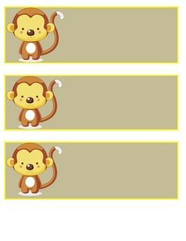 Monkey Name Plates