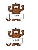 Monkey Name Tags