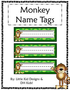 Monkey Name Tags - Printable Name Tags