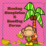 Monkey Nameplates, Cubby Tags, Book Bin Labels, and Reading Resources