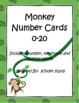 Monkey Number Cards