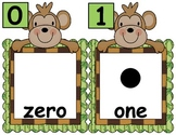Monkey Number Cards, Numbers 0-30