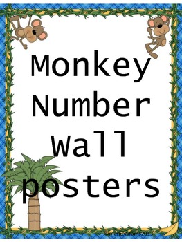 Monkey Number Posters