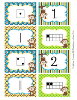 Monkey Numbers 1-10 Match Activity