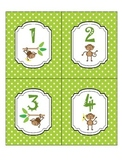 Monkey Numbers - library pocket labels