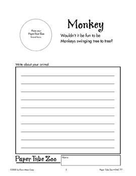 Monkey Paper Tube Animal