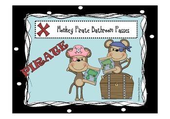 Monkey Pirate Bathroom Passes