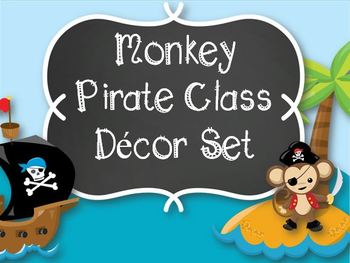 Monkey Pirate Classroom Decor-Editable!