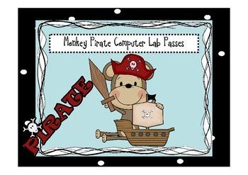 Monkey Pirate Computer Lab Passes