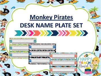Monkey Pirate class decor desk name plates