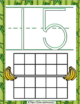 Monkey Playdough Number Mats {Numbers 0-20}