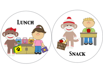 Monkey Preschool Visual Schedule
