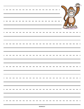 Monkey Primary Lined Paper